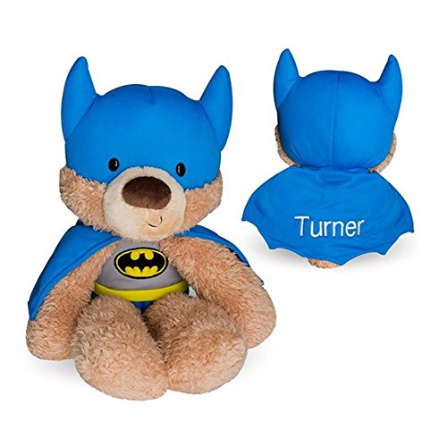 GiftsForYouNow Batman Personalized Plush Bear, Embroidered