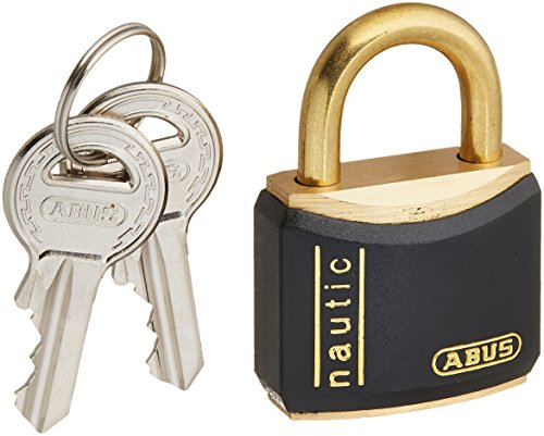 - ABUS T84MB/30 C KD 30mm All Weather Solid Brass Keyed Different Padlock, Black