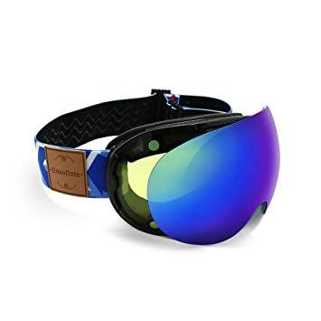 897ec1165c77 Amazon.com  Ski Goggles 2 in 1 with Magnetic Dual-use Lens Night ...