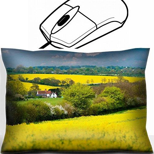 MSD Mouse Wrist Rest Office Decor Wrist Supporter Pillow design 24921888 Rapeseed landscape Manuden Essex England ()