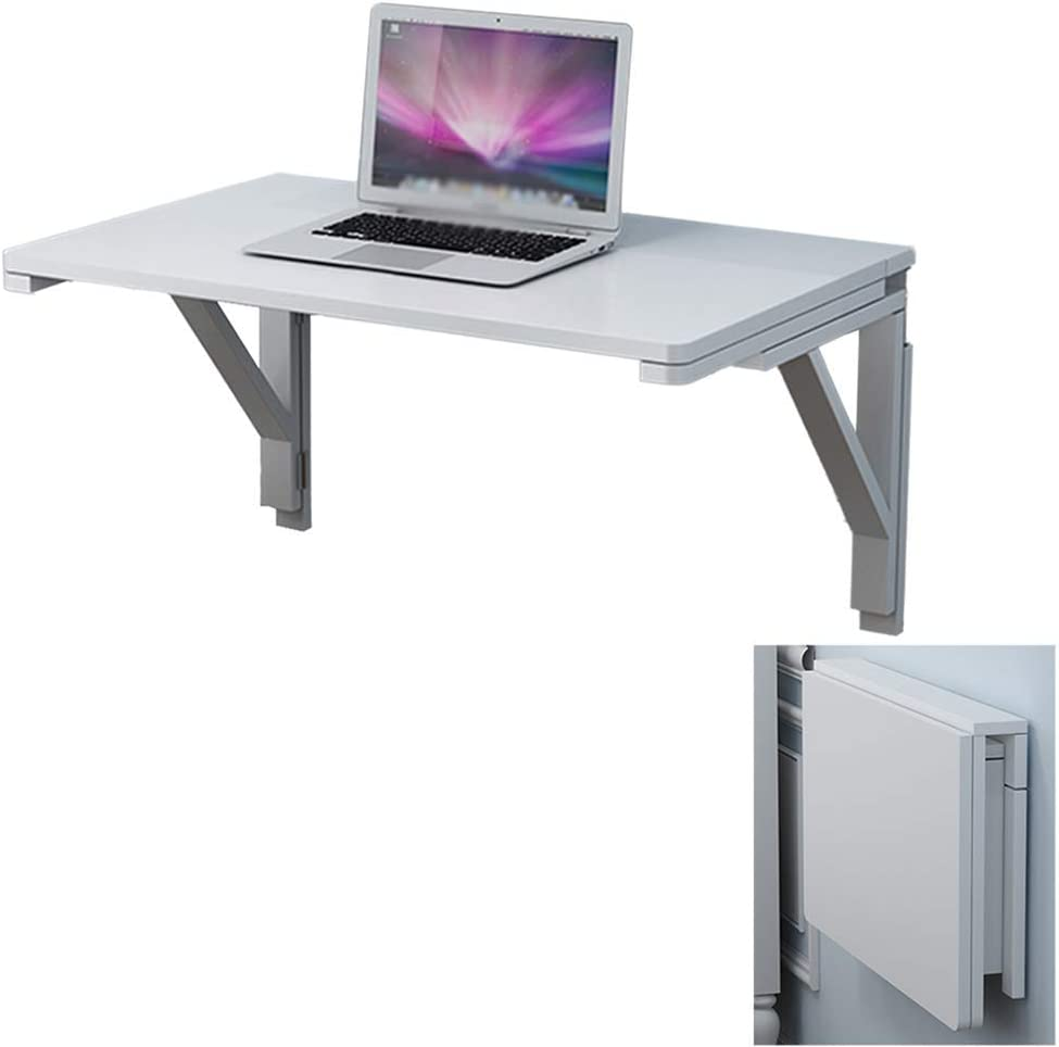 MTYLX Table,Desk,Drop-Leaf Wall Mounted, Floating Table Space Saving Hanging Computer Desk for Study, Bedroom, Bathroom or Balcony(White),12050Cm,12050Cm