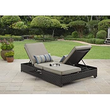 Better Homes and Gardens Avila Beach Double Lounger / Sofa  sc 1 st  Amazon.com : dual chaise lounge - Sectionals, Sofas & Couches