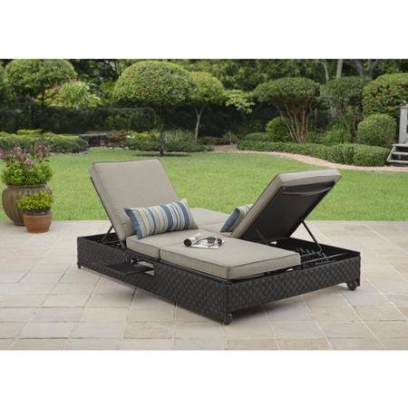 Outdoor for Better homes and gardens hillcrest outdoor chaise lounge