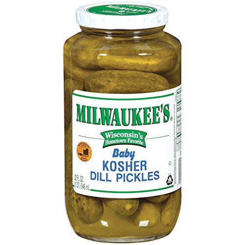Milwaukee's Pickles, Baby Kosher Dills, 32 Ounce (Pack of...