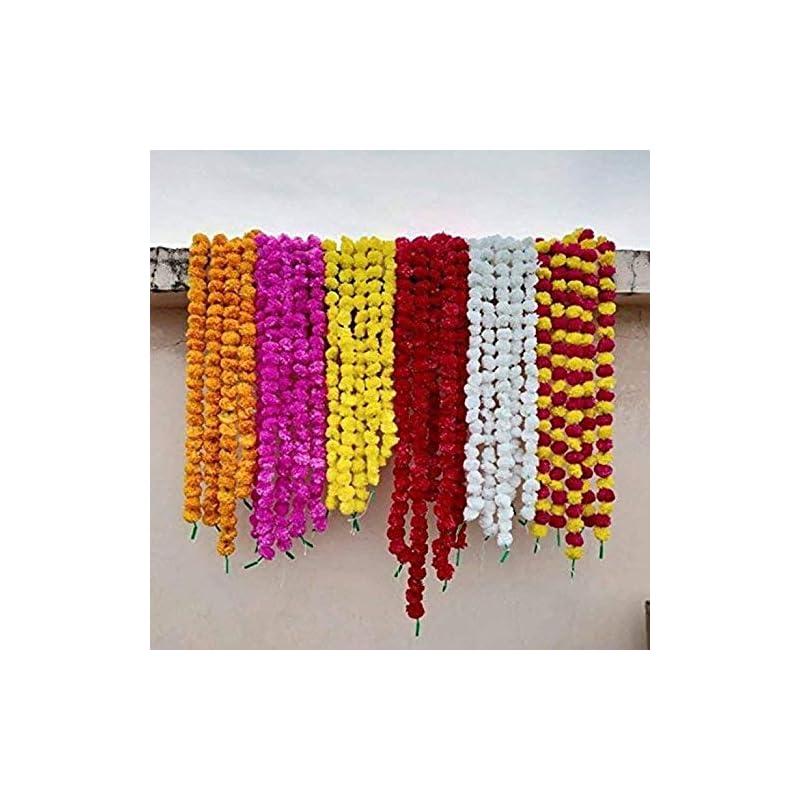 silk flower arrangements nexxa 5pc mix mariogold home decor artificial flower garland