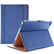 Procase iPad 9.7 Case 2018/2017 iPad Case - Stand Folio Cover Case for Apple iPad 9.7 inch, Also Fit iPad Air 2 / iPad Air -Navy Blue