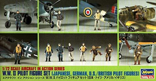 ハセガワ 1:72 第二次世界大戦 日本ドイツ人 アメリカ 英国 パイロット フィギュア キット #35008 #X72-8