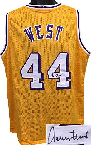 eb873c4dc Signed Jerry West Jersey - Gold TB Custom Stitched XL Hologram - JSA  Certified - Autographed