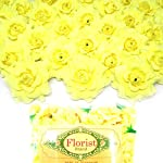 100-Silk-Light-Yellow-Roses-Flower-Head-175-Artificial-Flowers-Heads-Fabric-Floral-Supplies-Wholesale-Lot-for-Wedding-Flowers-Accessories-Make-Bridal-Hair-Clips-Headbands-Dress