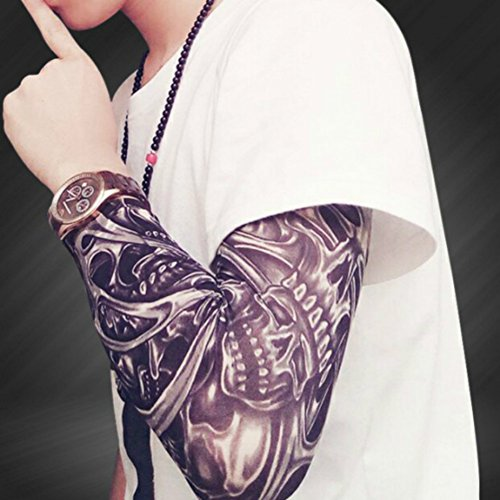 Enshey Tattoo Sleeves, Fake Tattoo Sun Arm Warmers UV Protection Sleeves for Man Women Set of 5 by Enshey (Image #8)