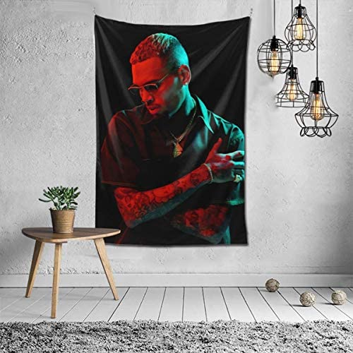 Chris Brown Tapestry Wall Hanging Bedding Tapestry 3D Printed Art Tapestry Home Decor 60 x40