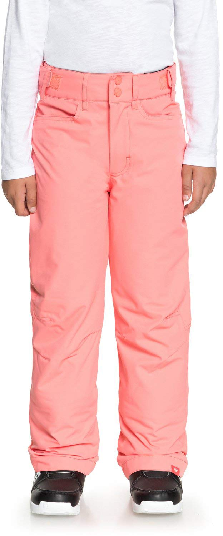 ROXY Little Backyard Girl Snow Pant, Shell Pink, 12/L by ROXY