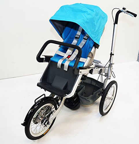 3 Wheels Folding Bicycle Stroller Bike Carrier Pushchair Bike 3 Speed For Jogging Mother & Baby. rideONEcar