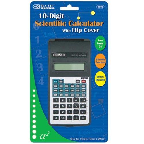 BAZIC 10-Digit Scientific Calculator w/ Flip Cover Case Pack