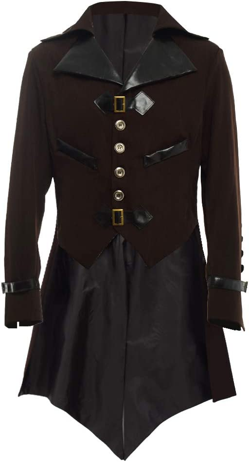 Men's Steampunk Clothing, Costumes, Fashion BLESSUME Gothic Victorian Tailcoat Steampunk VTG Coat Jacket Halloween Cosplay Costume £45.41 AT vintagedancer.com