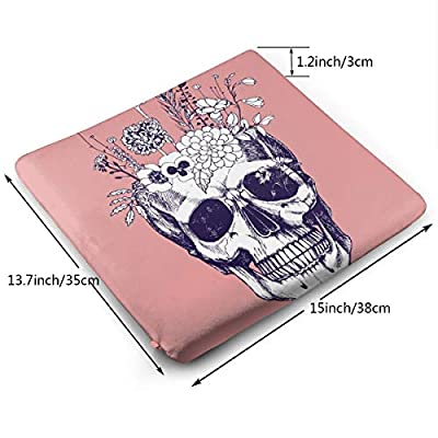 Sanghing Customized Flower Vase Made in Skull 1.18 X 15 X 13.7 in Cushion, Suitable for Home Office Dining Chair Cushion, Indoor and Outdoor Cushion.: Home & Kitchen