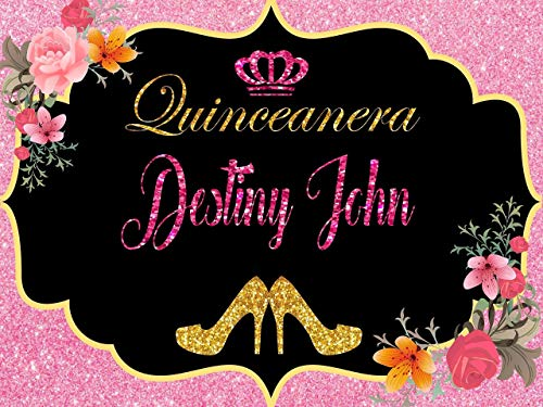 Custom Home Décor quinceanera banner - Size 24x36, 48x24, 48x36; Personalized Sweet 15, Sweet 16, Birthday, bachelorette, party decorations, Party Banner Wall Décor, Handmade Party Supply Poster Print ()