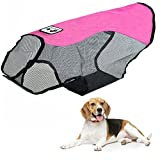Dog Sunscreen Shirt Clothes Dog Safety Vest Heatstroke Prevention Summer Reflective Pet Dog Waterproof Clothes Breathable Sunshirt (S, Red)