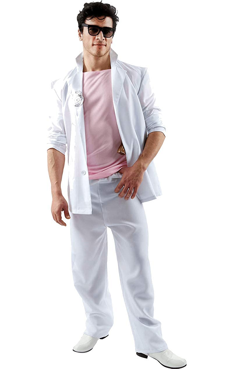 9f370f0e7d1 Amazon.com  Adult Florida Detective (Pink and White) Costume  Clothing