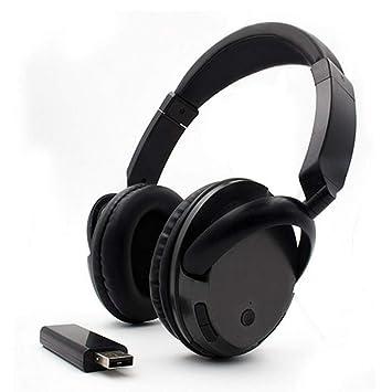 XPFFXX Auriculares Inalámbricos para TV, Pc, Computadora, Mp3, TV, Auriculares para Colocar Sobre La Oreja, Función FM con Transmisor USB: Amazon.es: ...