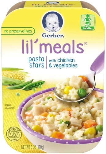Gerber Graduates Lil' Meals, Pasta Stars with Chicken and Vegetables, 6 OZ, Pack of 4