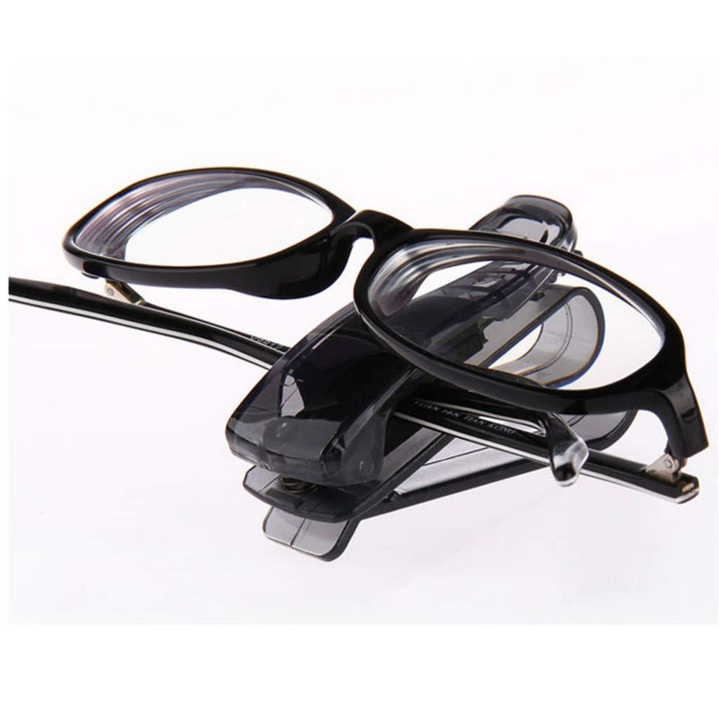 Klemm-Halterung 2in1 Klip f/ür Visitenkarten Notizen Brillen-Aufbewahrung f/ür KFZ PKW LKW Auto perfk Sonnen-Brillen-Ablage