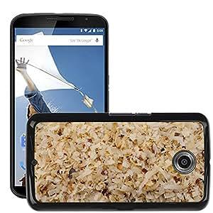 Print Motif Coque de protection Case Cover // M00153591 El aserrín de fondo Material Madera // LG Google Nexus 6