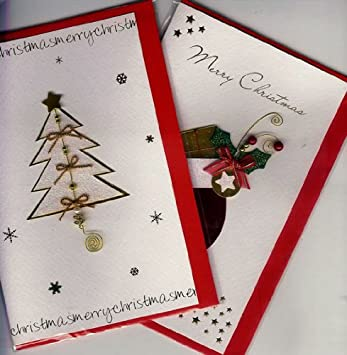 Amazon Com Handmade Christmas Cards Assortment High Quality At A