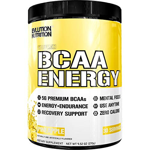 Evlution Nutrition BCAA Energy – High Performance, Energizing Amino Acid Supplement for Muscle Building, Recovery, and Endurance (Pineapple, 30 Servings) Review