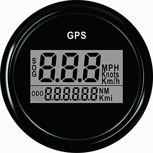 Eling Garantierter Digitaler Gps Geschwindigkeitsmesser Kilometerzähler Für Autoboot Mit Hintergrundbeleuchtung 52mm 12v 24v Auto