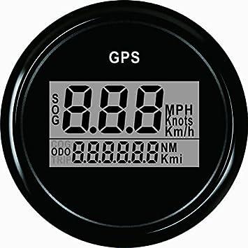 Velocímetro digital GPS para barco y coche con retroiluminación de 52 mm y 12 V/24 V: Amazon.es: Coche y moto
