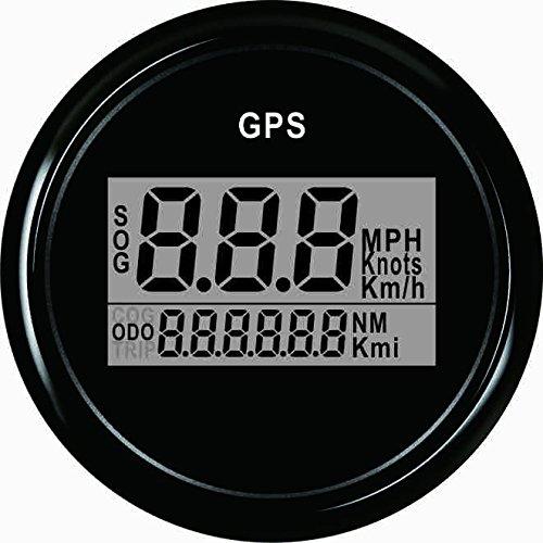 Warranted digitale GPS tachimetro contachilometri per auto barca con retroilluminazione 5, 1 cm (52 MM) 12 V/24 V 1cm (52MM) 12V/24V ELING