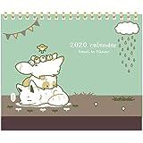 タヌキとキツネ 2020年 卓上 リングカレンダー