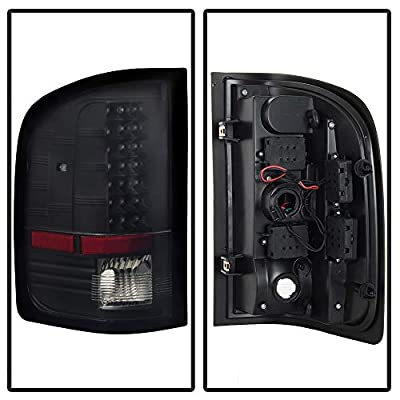 ACANII - For Blk 2007-2013 Chevy Silverado 1500 2500 3500HD LED Tail Lights Lamps Left+Right: Automotive