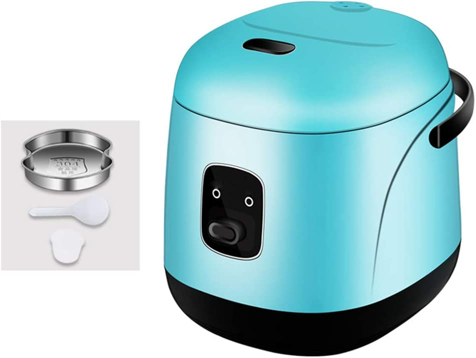TYI -1.2L Electric Rice Cooker with Steam & Rinse Basket, Portable Mini Rice Cooker, Nonstick, 15 Minutes Fast Cooking, Re-Heating, Keep Warm, for 2-4 People,Blue