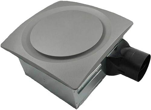 Aero Pure AP90-S SN Slim Fit Super Quiet 90 CFM Bathroom Ventilation Fan with Satin Nickel Grille