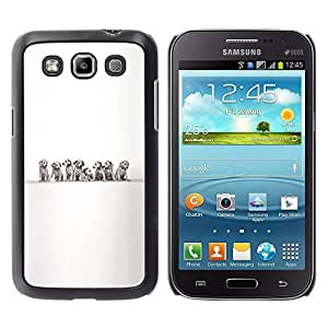Be Good Phone Accessory // Dura Cáscara cubierta Protectora Caso Carcasa Funda de Protección para Samsung Galaxy Win I8550 I8552 Grand Quattro // Dalmatians Puppies Black White Dog