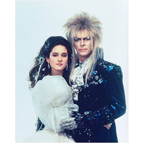 labyrinth-1986-8-inch-x-10-inch-photograph-david-bowie-glittering-black-white-outfit-ruffled-shirt-w