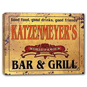 KATZENMEYER'S World Famous Bar & Grill Stretched Canvas Print