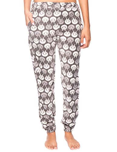 Noble Mount Women's Microfleece Jogger Lounge Pant - Sheep Charcoal - Medium]()