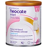 Nutricia Neocate Infant DHA/ARA, Amino Acid Based with Iron Powdered Infant Formula, Unflavored, 0-12 Months 14.1 oz (400 g) (Pack of 2)