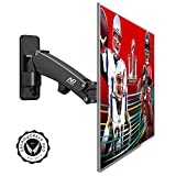 Full Motion Articulating TV Wall Mount Bracket with Gas Spring Arm, Support 40 42 47 43 50 LED LCD TV 4K Ultra HD Smart Plasma Flat Screen Monitors Max 35lbs 14 inch Extension VESA 400x400 by NB F350