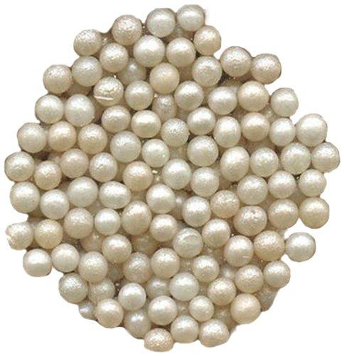 Dress My Cupcake DMC27251 Decorating Pearlized Sugar Pearls Bulk for Cakes, 28.6-Pound, Ivory