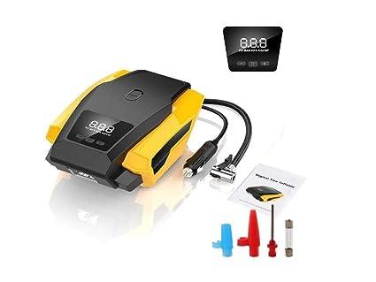 12V Tyre Inflator Portable Car Pump Pressure Air Compressor LED Light 150PSI