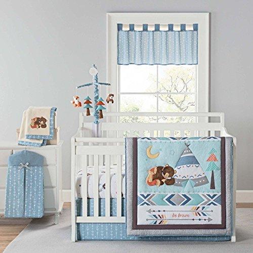 Laugh Giggle & Smile Be Brave 4 Piece Crib Bedding Set