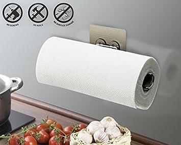 Sin taladro, sin tornillos, soporte de rollo de papel, dispensador autoadhesivo de pared