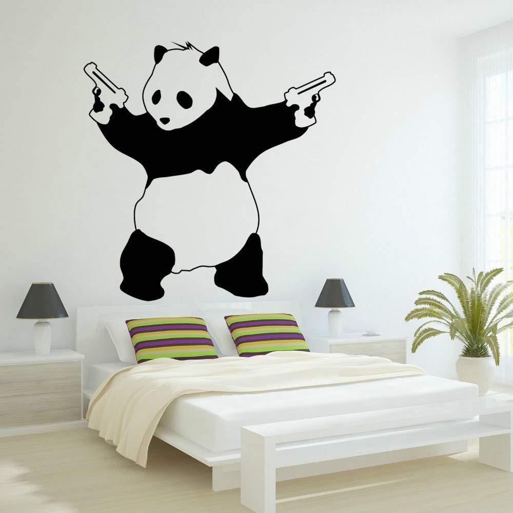 Apliques Lo nuevo grande malo panda Banksy Gangster Guns Vinyl Art ...