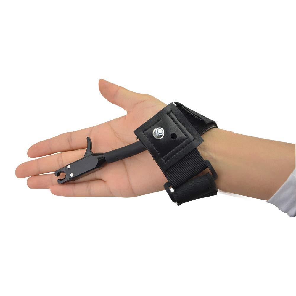 SHARROW Compound Bogen Release Aids Trigger Zangenrelease Handgelenkschlaufe Verstellbare Sehnenausl/öser Spannhilfen Jagd Zubeh/ör