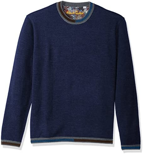 Robert Graham Men`s Cooperstown Long Sleeve Sweater Crewneck