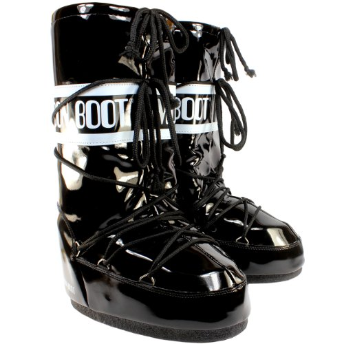Viynl Black Original Waterproof Snow Boot 3 Winter 5 Boots 8 Moon Tenica Womens qt7I44